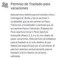 Disponible permiso de traslado para vacaciones 2021